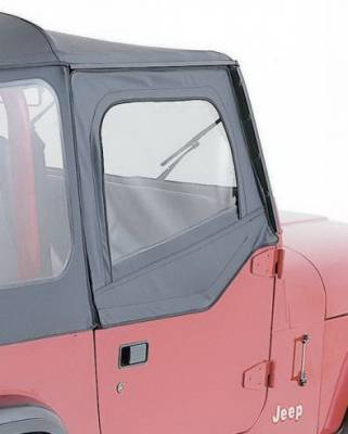 Rampage - Jeep Wrangler Rampage Door Skins - Pair - for Soft Upper Doors - Black Denim - 89715