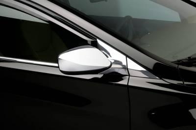 Putco - Hyundai Elantra Putco Mirror Overlays withOUT LED opening - 401773