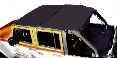 Rampage - Jeep Wrangler Rampage Combo Brief & Topper - Black Mesh - 94401
