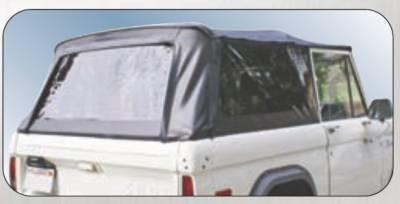Rampage - Ford Bronco Rampage Complete Top - Frame & Hardware - Black - 98501