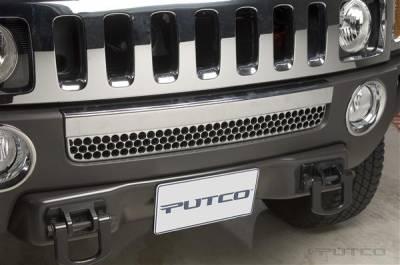 Putco - Hummer H3 Putco Chrome Bumper Vent Strip - 402313