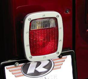 Rampage - Jeep Wrangler Rampage Bead Lock Taillight Bezel - Brushed Aluminum - 508470