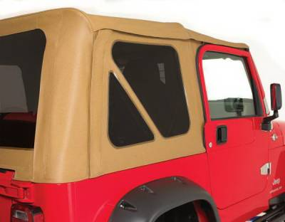 Rampage - Jeep Wrangler Rampage Tinted Windows - 3PC - Denim Black - 599615