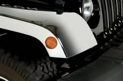 Putco - Jeep Wrangler Putco Chrome ABS Fender Flares - 403505