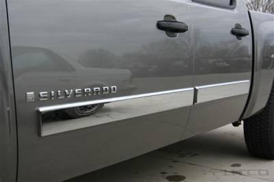 Putco - Chevrolet Silverado Putco Body Side Molding - ABS Plastic - 403693