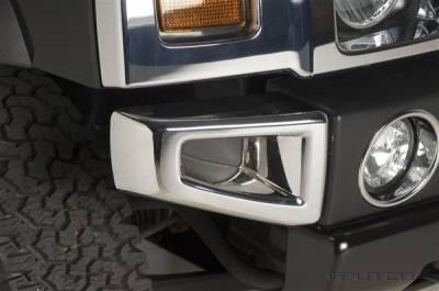 Putco - Hummer H2 Putco Chrome Trim Front Bumper Cover - 404205