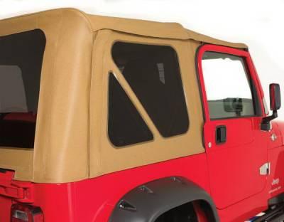 Rampage - Jeep Wrangler Rampage Mesh Windows - 3PC - Gray - 799611