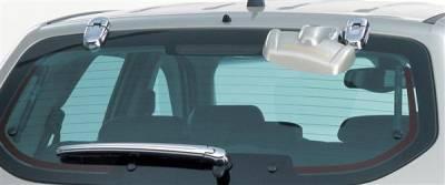 Putco - Hyundai Tucson Putco Chrome Rear Hinge Covers with Wiper cover - 408207