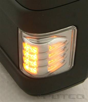 Putco - Ford F250 Superduty Putco LED Mirror Replacements - Smoke - 920308
