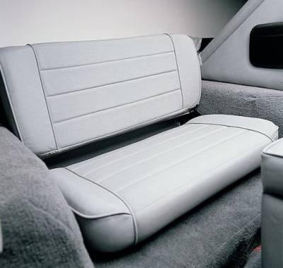 Rampage - Jeep CJ Rampage Fold & Tumble Rear Seat - Black - 5041301
