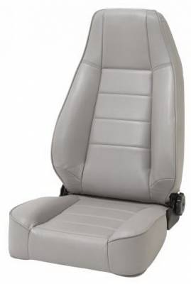 Rampage - Jeep CJ Rampage OE Style Replacement Seat with Recliner - Black Denim - 5045015