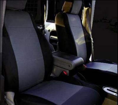 Rampage - Jeep Wrangler Rampage Custom Fit Neoprene Seat Cover - Rear Set - Black & Gray - 5047921