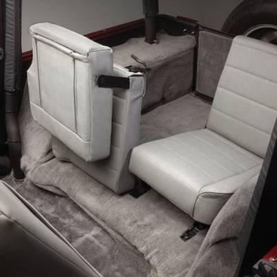Rampage - Jeep Wrangler Rampage Fold & Tumble Rear Seat - Split Seat - Black - 5051301