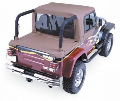 Rampage - Jeep Wrangler Rampage Tonneau Top Boot - with Factory Soft Top - Channel Mount - Denim Black - 6600115