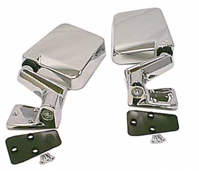 Omix - Rugged Ridge Factory Style Mirror - Pair - Chrome Plastic - 11010-04
