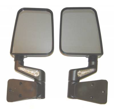 Omix - Rugged Ridge LED Heated Mirror - Black - 11015-2