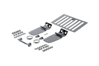 Omix - Rugged Ridge Hood Kit - Stainless Steel - 11101-03