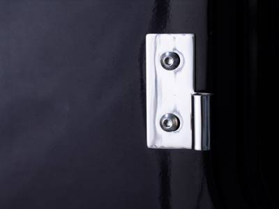 Omix - Rugged Ridge Door Hinge Kit - For Use with Full Doors - 4 Piece - Stainless Steel - Front - 11113-01