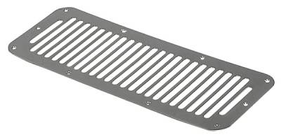 Omix - Rugged Ridge Hood Vent Cover - Stainless Steel - 11117-02