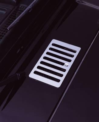 Omix - Rugged Ridge Hood Vent Cover - Stainless Steel - 11117-04