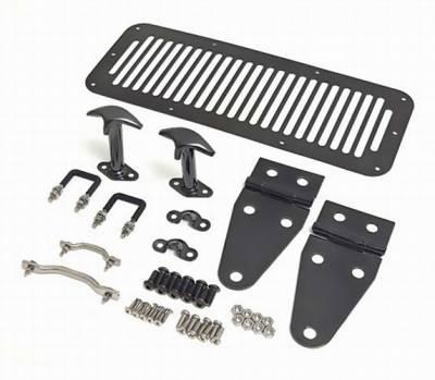 Omix - Rugged Ridge Hood Kit - Black Chrome - 11180-08