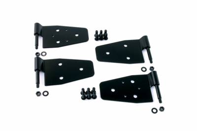 Omix - Rugged Ridge Door Hinge Kit - For Use with Half or Full Steel Doors - 4 Piece - Black - Front - 11202-01