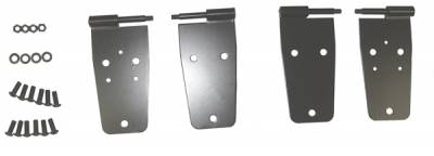 Omix - Rugged Ridge Door Hinge Kit - For Use with Full Hard Doors - 4 Piece - Black - Front - 11202-02
