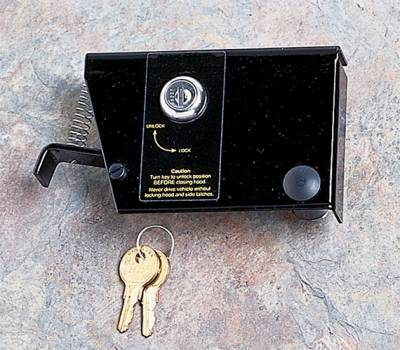 Omix - Rugged Ridge Hood Lock Kit - No-Drill - Comes with 2 Keys - 11252-01