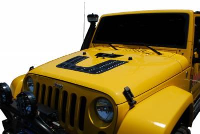 Hyline Offroad - Jeep Wrangler Hyline Offroad Louvered Hood Panel - JK-50HLP-NF