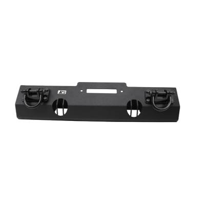 Omix - Rugged Ridge Xtreme Heavy Duty Front Bumper - Short Base with Winch Mount -Textured Black D-Rings - 11540-1