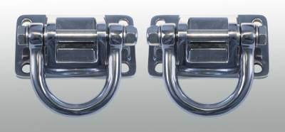 Omix - Rugged Ridge Bumper D-Ring - Pair - Stainless Steel - Replaces Standard XHD Bumper D-Rings - 11540-17