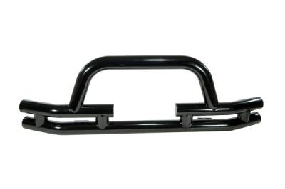 Omix - Outland Front Bumper with Winch Cut Out - Black - 11560-03