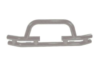 Omix - Outland Front Bumper with Winch Cut Out - Titanium - 11562-03