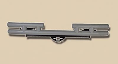 Omix - Outland Rear Tube Bumper with Hitch - Titanium - 11572-04