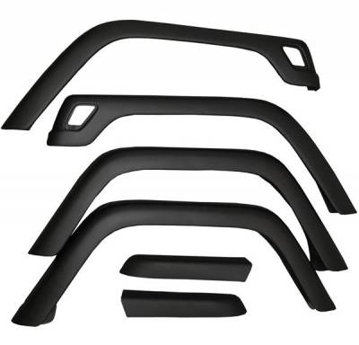 Omix - Omix Fender Flare Kit - 6 Piece - 11603-01