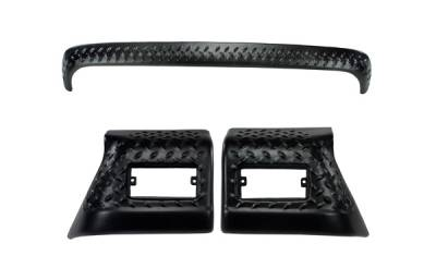 Omix - Rugged Ridge Body Armor Kit - Including Hood Stone Guard - Pair Of Front Fender Covers - 11650-52