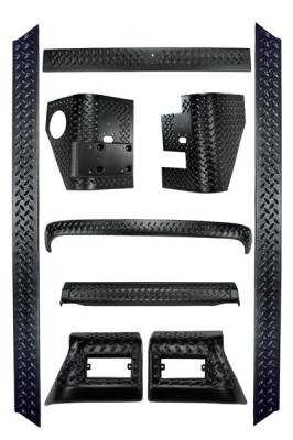 Omix - Rugged Ridge Body Armor Kit - 9 Piece - 11650-6