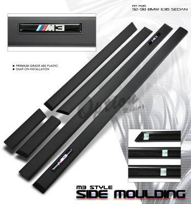 OptionRacing - BMW 3 Series Option Racing Side Molding Body Kit - 29-12102