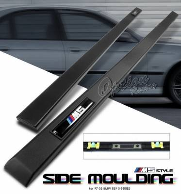 OptionRacing - BMW 5 Series Option Racing Bumper Cover - M5 Look - Side Molding - 29-12117