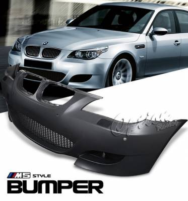 OptionRacing - BMW 5 Series Option Racing Bumper - M5 Look - Front with Sensor Hole - 29-12133