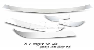 OptionRacing - Chrysler 300 Option Racing Bumper Trim - 73-16108