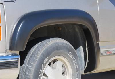 Prestige - Chevrolet C1500 Prestige Front Pair EX Wide Style Textured Fender Flare Set - EX101TA