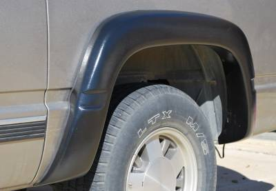 Prestige - Chevrolet K3500 Prestige Rear Pair EX Wide Style Textured Fender Flare Set - EX101TB