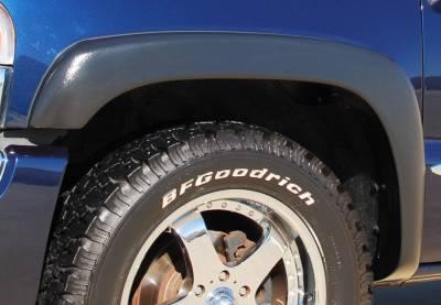 Prestige - Chevrolet Silverado Prestige Front Pair EX Wide Style Textured Fender Flare Set - EX103TA