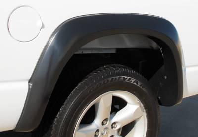 Prestige - Dodge Ram Prestige Rear Pair EX Wide Style Standard Fender Flare Set - EX203SB