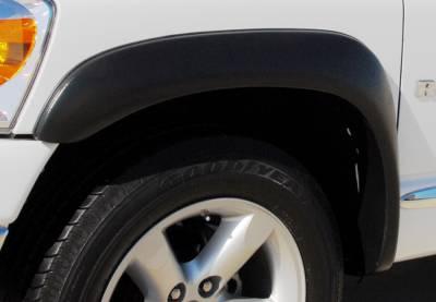 Prestige - Dodge Ram Prestige Front Pair EX Wide Style Textured Fender Flare Set - EX203TA