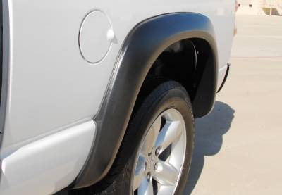 Prestige - Dodge Ram Prestige Rear Pair EX Wide Style Textured Fender Flare Set - EX203TB
