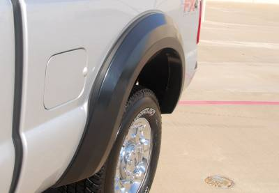 Prestige - Ford F250 Prestige Rear Pair EX Wide Style Textured Fender Flare Set - EX314TB