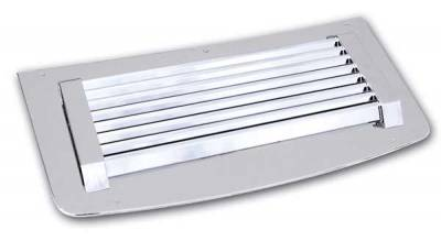 Pro-One - Pro-One Smooth Chrome Billet Lightning Hood Panel Insert - H30140SC