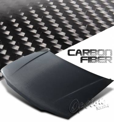 OptionRacing - Honda Accord Option Racing Carbon Fiber Hood - NRG-CH-H015